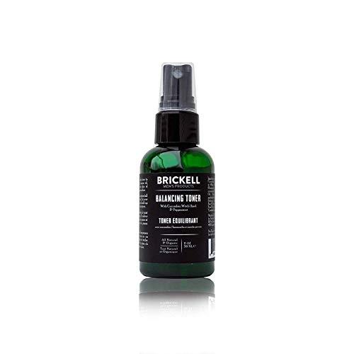 Brickell Men's Products balancing toner für männer, natur- und bio-alkohol-free gurke, minze gesichtswasser mit hamamelis, 2 ounce, duftend