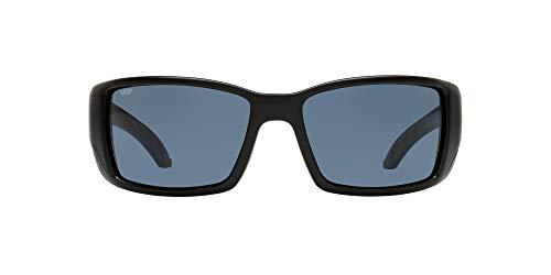 Costa Del Mar Men's Blackfin 580P Polarized Round Sunglasses, Matte Black/Grey Polarized-580P, 62 mm