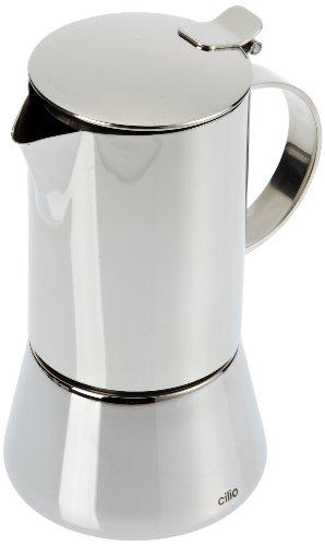 Cilio Espressokocher Aida, 4 Tassen, Edelstahl, Induktion geeignet