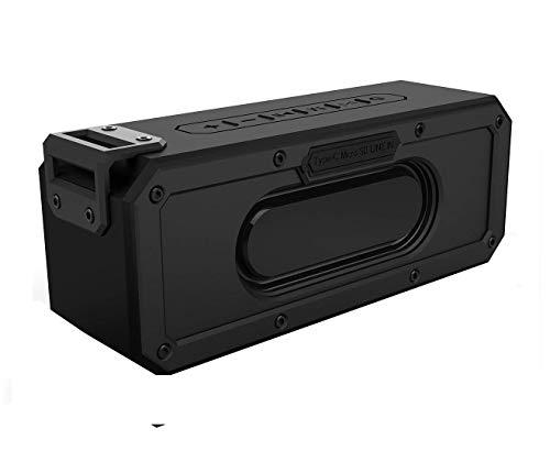 VUUV BASS Monster 40W Waterproof Bluetooth Speaker IPX7 Dual Driver TWS Portable Outdoor Bluetooth 4.2 Loud Enhanced Bass Dustproof Shockproof (Bass Monster, Black)
