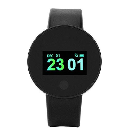 DAUERHAFT Schlafüberwachung Gesundheit Fitness Tracker Sport Smartwatch Stoppuhr Funktion Batterie mit großer Kapazität(Black)