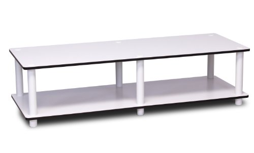 Furinno Just No Tools Wide TV Stand, White