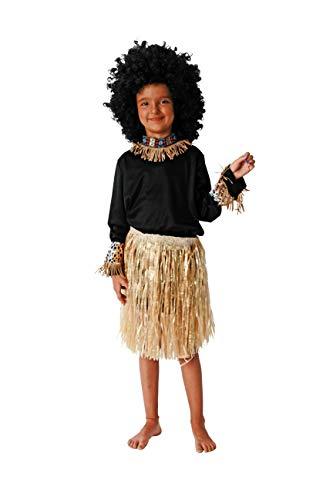 Costumizate! Disfraz de Africano Talla 4-6 Especial para niños Fiestas de Disfraces o Carnaval