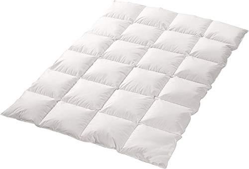 trautesheim 4-Jahreszeiten 70%-Daunen-30%-Federn-Bettdecke Gesteppte Kassetten Daunen Decke in 155x220cm mit 1400g Füllung - Wärmestufe 4 - Bezug 100% Baumwolle - KEIN LEBEND-RUPF