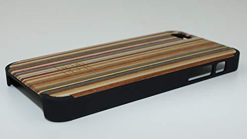 sachentransporter Original HOLZKISTE aus Regenbogenholz - schwarz - iPhone 5/ iPhone 5s / ECHTHOLZ/UNIKAT/handgefertigt/passexakt für Dein iPhone/Schwarze Schale