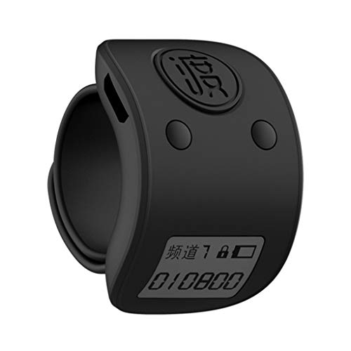 JIUYECAO Cantando almacenamiento contador, mini digital LCD negro dedo anillo electrónico mano talally contador 9 dígitos