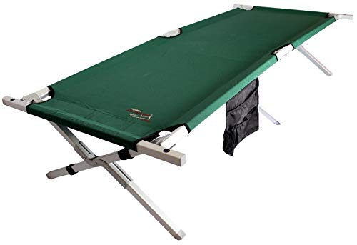 BYER OF MAINE Military Cot, Heavy Duty, Big and Tall Cot, Reinforced with Steel, Extra Large, Holds 375lbs
