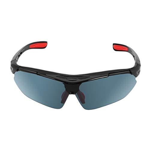 Mode Radfahren Brillen Unisex Outdoor Sport Sonnenbrille UV400 Fahrrad Fahrrad Sportbrille Sonnenbrille Reitbrille; grau Candyboom