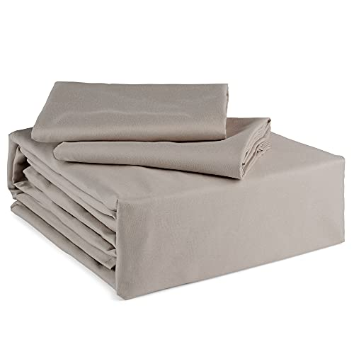 Microfiber King Bed Sheet Set - 1800 Thread Count - Wrinkle and Stain Resistant - 4 Piece Grey