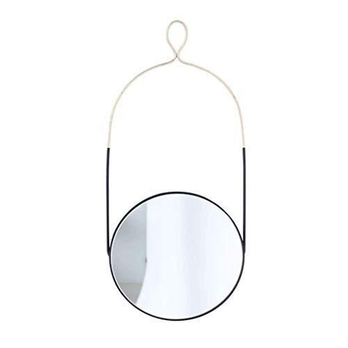 Household Necessities/wandspiegel eenvoudig spiegel rond gebogen vanity badkamerspiegel 29*69CM Zwart