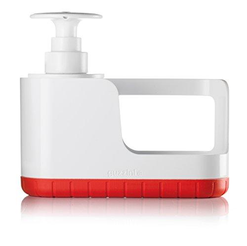 Guzzini Organizzatore Tidy&Clean e Push&Soap Kitchen Active Design, Rosso, 24.2 x 8.3 x h19 cm