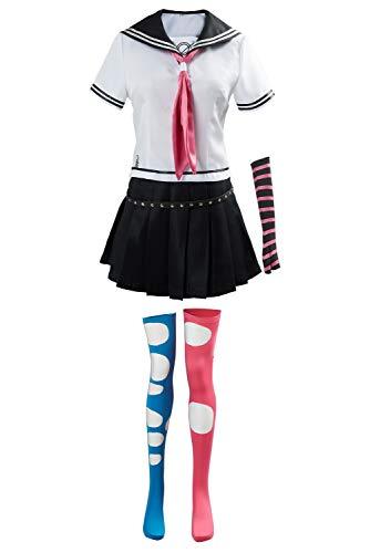 JRCRIN Danganronpa Mioda Ibuki Cosplay Costume High School Uniform Outfit White