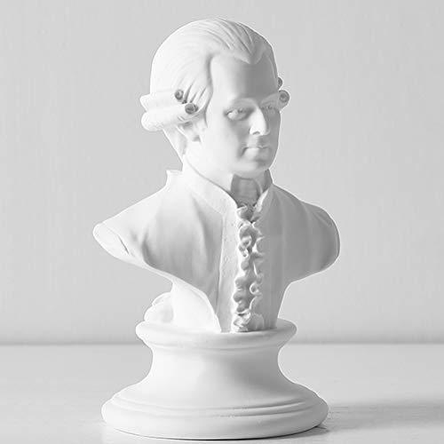 YB&GQ Harz Kopf Statue,Mozart Büste Skulptur Klassisches Griechisch Figur Handwerk Décoration De La Maison Skizze Ornamente-f 16x10x8cm(6x4x3inch)