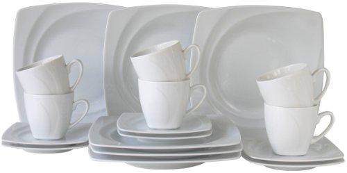 Creatable 13161, Serie Celebration Weiss, 18tlg Kaffeeservice, Porzellan, 31.5 x 26 x 27 cm, 18-Einheiten