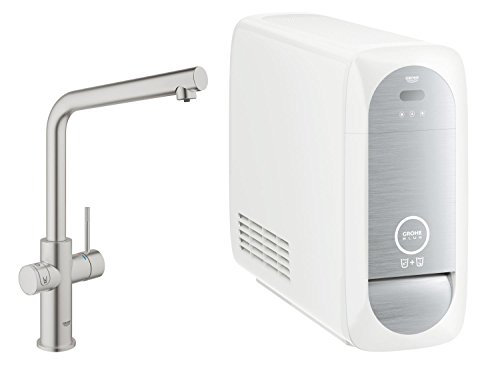 Grohe Blue Home Duo - 2-in-1 Trinkwassersystem und Küchenarmatur (gekühlt, gefiltert, mit Kohlensäure, L-Auslauf) 31454DC0