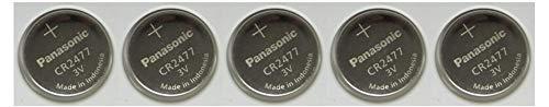 Panasonic CR2477 3V Lithium Cell Battery (Pack of 5)