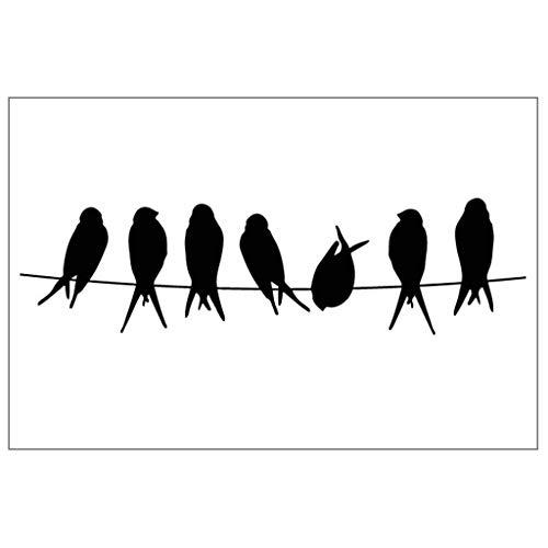 COLUDOR Tampon en silicone transparent avec motif d'oiseaux - Pour bricolage, scrapbooking, album photo