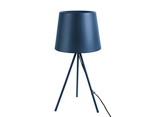 Tischlampe Classy Metall dunkelblau