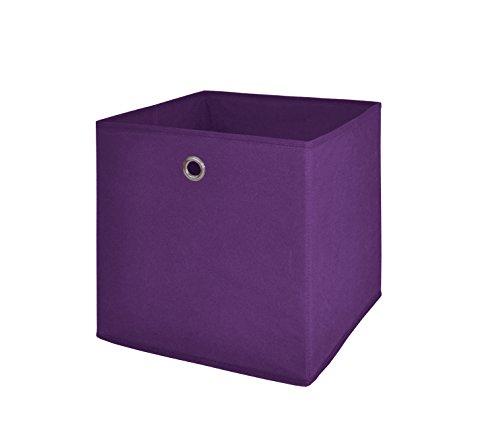 Möbel Akut Faltbox 4er Set in der Farbe brombeer, Aufbewahrungsbox für Raumteiler oder Regale