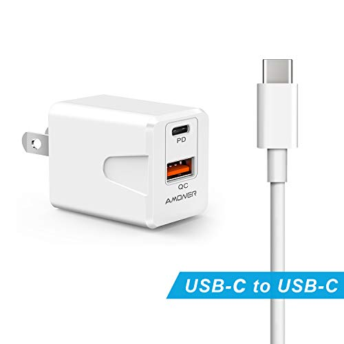 USB C Fast Charger, 30W 2 Port Charger with 18W USB C Power Adapter,PowerPort PD 2 Charger for iPhone 11/11 Pro / 11 Pro Max/XS/Max/XR/X, iPad Pro, Galaxy, and More