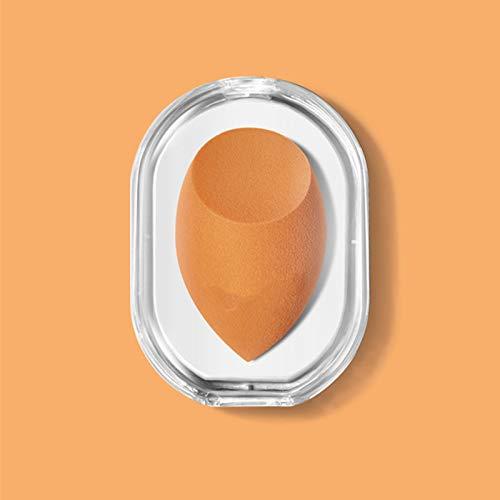La Licuadora de Esponja de Maquillaje de Color Caramelo, Huevo de Maquillaje, Bocanada Húmeda y Seca es Adecuada para Base Líquida y Polvo Compacto, Puede Aplicar Maquillaje Rápidamen