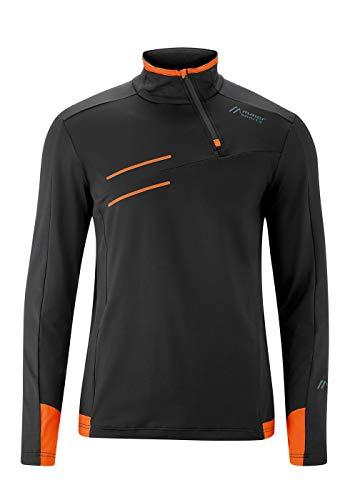 Maier Sports Pantalon de Ski Unisexe Adult Noir/Orange 50