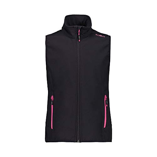 CMP Gilet Softshell Clima Protect Chaleco, Niñas, Antracite/Bouganville, 110