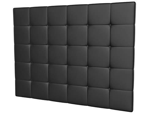 LA WEB DEL COLCHON - Cabecero tapizado Celio para Cama de 150 (160 x 120 cms) Negro
