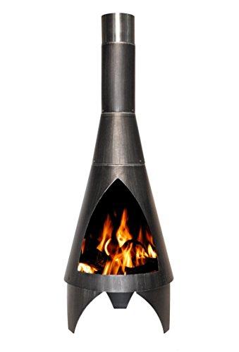Buschbeck Feuerstelle, Gartenkamin Colorado, silber/schwarz, 45 x 45 x 125 cm, 90050.000