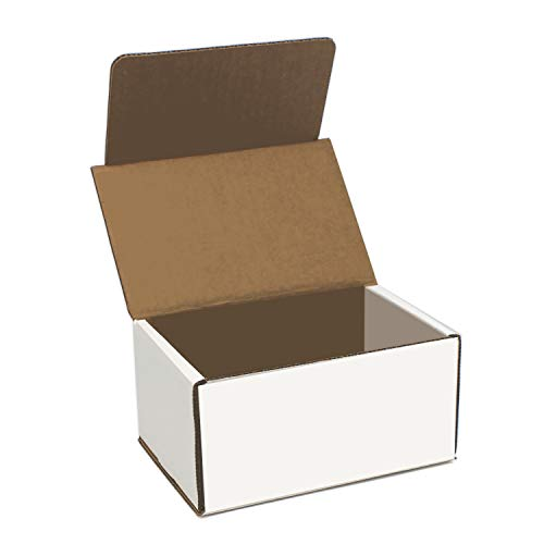 White Cardboard Shipping Box - Pack of 25, 6 x 4 x 3 Inches, White, Corrugated Box