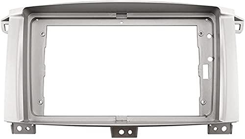FORETTY 9 Pulgadas 2DIN Adaptador de Marco de Fascia de Radio de Audio for automóvil DVD Player Dash Fitting Panel Frame Fit for Toyota Land Cruiser 2003-2008