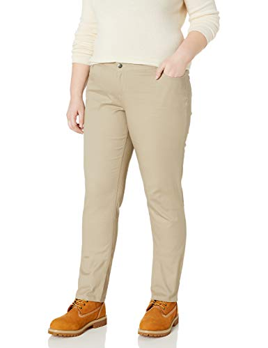 Lee Uniforms Teen-girlswomen's Original Straight Leg Pant (Plus and Standard Sizes), Khaki, 7