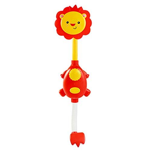 Seguridad y protección del medio ambiente Juguetes de ducha for niños El cabezal de ducha de león que se puede girar a los niños y las niñas que juegan en el baño (sin baterías) Adecuado para bebés