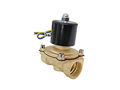 """1"""" Electric High Flow Brass Solenoid Valve 110V - 120V AC Air Water Gas Diesel Normally Closed NPT by XSPANDER"""