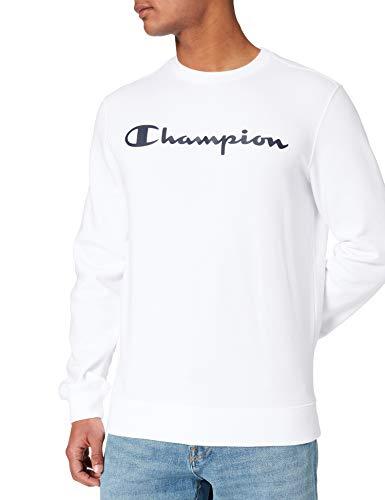 Champion Legacy Classic Logo Sudadera, Blanco, M para Hombre
