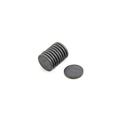 0,6 kg Magneti in ferrite Y10 confezione da 10 20 mm x 3 mm di spessore Magnet Expert/®