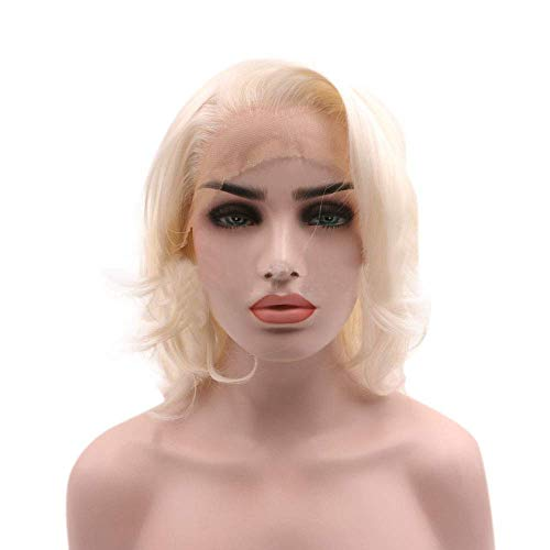 ZLININ Y-longhair Women's Chemical Fiber Front Lace White High Temperature Silk Wig (Color : Creamy-white)