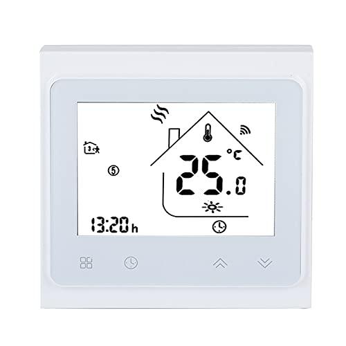Tuezokeg Termostato Inteligente, Termostato De Pantalla LCD, Sensor Doble para Calefacción De Suelo Eléctrica Control De Uso De Termostato De Calefacción De Suelo Eléctrico