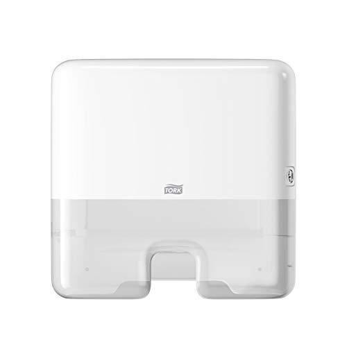 Tork Xpress Mini Spender für Multifold Papierhandtücher 552100, Elevation Design - Kompakter H2 Handtuchspender für Falthandtücher zur Einzelblattentnahme, schlankes Design, weiß