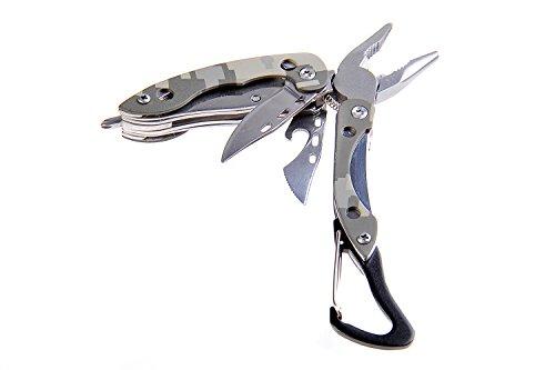 Huntington Moschettone Multifunzione Traveler: pinze con 4 Strumenti, Un utile moschettone per attaccarsi alla Cintura o allo Zaino, MT821H2G (DE)