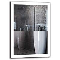Espejo LED Premium - Dimensiones del Espejo 70x100 cm - Espejo de baño con iluminación LED - Espejo de Pared - Espejo de luz - Espejo con iluminación - ARTTOR M1ZP-50-70x100 - Blanco frío 6500K