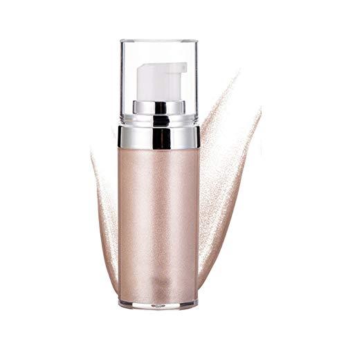 Crema iluminadora, Crema para el contorno de la cara Maquillaje Cara Cuerpo Brillo Bronceadores Cosméticos Iluminador brillante(1#)