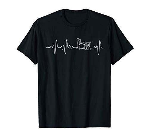 Herzschlag Drummer Schlagzeuger Geschenk Schlagzeug T-Shirt