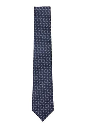 BOSS Herren Tie 7,5 cm Fein gemusterte Krawatte aus wasserabweisender Seide