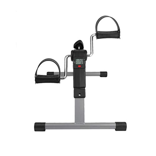 WMQ Exercise Bike for Home,Portable Pedal Exerciser Best Arm Leg Exercise Peddler Machine Mini Spinning Bike LED Screen Display Cycle Leg Machine