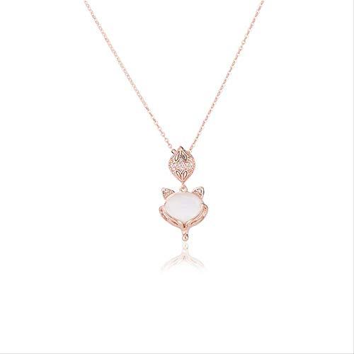 chachacha Otoño/Invierno Little Fox Collar Mujer Cute Little Animal Seiki Jewelry Smart Fox Fairy Collarchain Collar