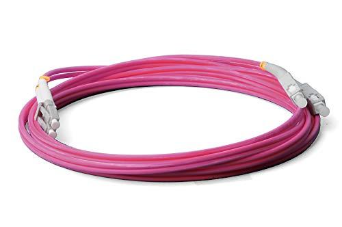 LWL glasvezel kabel - 7,5m OM4 LC, UPC op SC/UPC stekker, duplex 50/125 patchkabel - lichtgolf ladder 7,5 meter