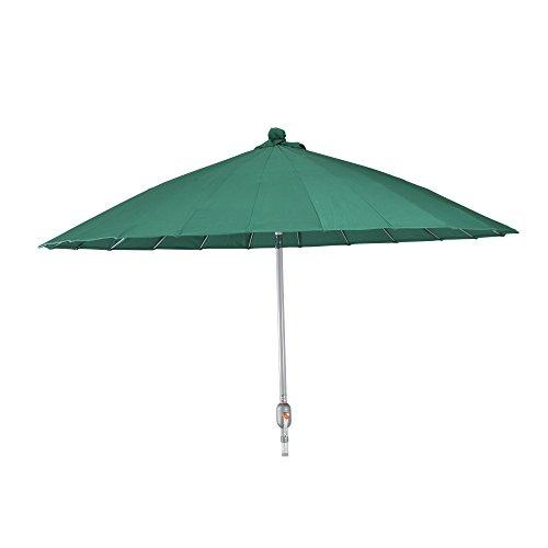 Siena Garden 604603 Sunshine Parasol Base Aluminium/Polyester Aspect Chine Vert/Argent 270 cm