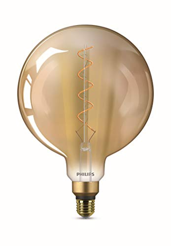 Philips LEDclassic Lampe Giant Gold, Vintage Retro-Design ersetzt 25W, E27, Flame (2000 Kelvin), 300 Lumen, Globe, Dekolampe