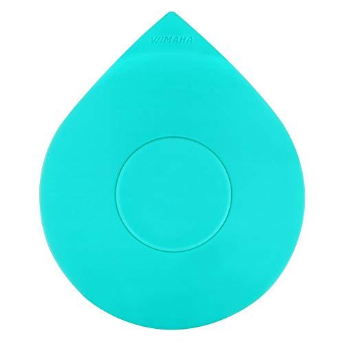 Wimaha Tapón de bañera, Tapa de tapón de Tubo, Tapón de Drenaje de Silicona Universal para baño de 1-1/2-4 Pulgadas, Bañera, Servicio de lavandería, Cocina, Diseño de Gota de Agua (Blue)
